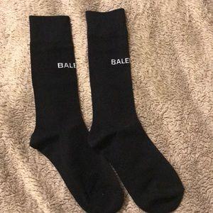 Accessories - Black Balenciaga logo socks